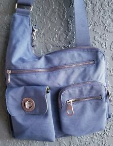 BAGGALLINI Blue Slim Sling Shoulder Crossbody Bag Organizer Travel Purse