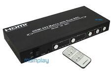 HDMI  Matrix Switch Splitter 4x2 3D ARC 1.4 IR 4Kx2K 4 zu 2  Verteiler UHD MX42b