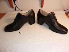 "Black Oxford Shoes 2 1/2"" Heel"