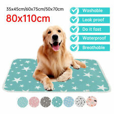 More details for pet pee pads mats puppy training pads toilet wee cat dog supplies washable large