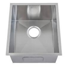 1.0 Single Bowl Handemade Satin Stainless Steel Undermount Kitchen Sink (DS005)