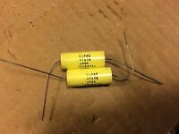 2 NOS .47 uf 600v Elpac Yellow Film Capacitors TESTED GOOD (qty avail)