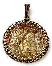 Saint Voivode Romania Monastery Gold Tone Romania Coin Jewelry,Necklace,Medieval