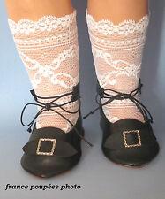 chaussures Jumeau®artisanales cuir 11x4.7cm poupée ancienne-Leather doll shoes