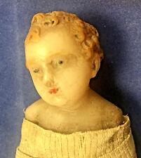 Vintage Antique Swaddled Baby Jesus Wax Doll Creche Nativity