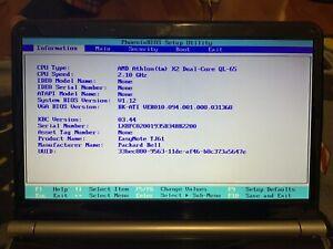 Packard bell easy note TJ61  Model MS2274 AMD X2 dual- core QL-65  Motherboard