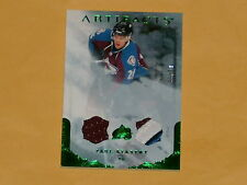 2010-11 Artifacts Emerald Jersey Patch Hockey Card # 66 Paul Stastny /50