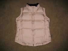 Marker Puffy Puffer Quilted Down Feather Vest Women's Size 6 Pink Zip Up Front