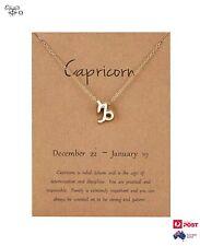 Necklace Capricorn Zodiac Star Sign Symbol Gold Plated Pendant