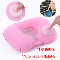 Foldable Car Airplane U-Shape Automatic Inflatable Travel Pillow Neck Protection