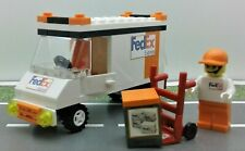Lego Custom City FedEx Express (ORANGE) Set. Truck Minifigure & MORE GREAT GIFT