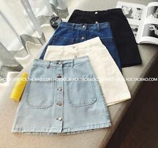 Unbranded Denim Short/Mini Regular Size Skirts for Women