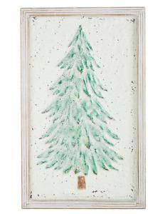 """25.5"""" GLITTERED TREE WALL ART Metal CHRISTMAS RAZ Imports 4054232 NEW MinT"""