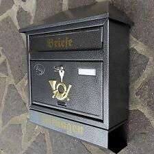 XXL Briefkasten Postkasten Silber+Zeitungsrolle Wandmontage Nostalgie Letterbox