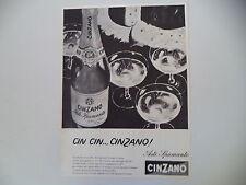 advertising Pubblicità 1960 SPUMANTE ASTI CINZANO