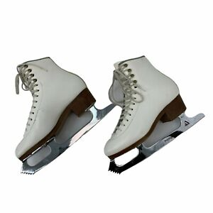 "SP-Teri Figure Skates Women's Size 6 AAAA Thin White 9.25"" Protege Blades"