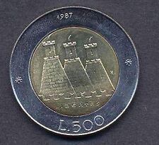 San Marino 500 Lire 1987 FDC (UNC) CASTELLO