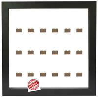 Setzkasten Vitrine für 18 LEGO Minifiguren versch.Hintergründe, versch.Steine