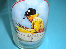 Vintage  Coca Cola Co Drinking Glass - Norman Rockwell Series