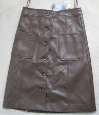 Next Brown Viscose Straight Skirt (NEW) size 6-£30.00
