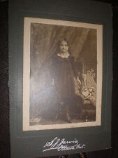Cdv cabinet old photograph girl doll by S J Jarvis Ottawa Canada c1890s