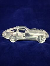 HOFBAUER 1963 CORVETTE STINGRAY SPLIT WINDOW GLASS CRYSTAL CAR PAPERWEIGHT