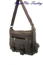 Ahmik Casual Canvas Cross Body Shoulder Messenger Bag B3004 Brown