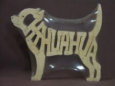 Chihuahua Dog Wooden Amish made Toy Scroll Saw Puzzle