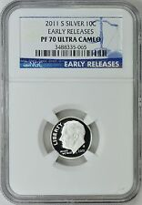 2011-S ROOSEVELT *SILVER* DIME 10c EARLY RELEASES NGC PF70 ULTRA CAMEO