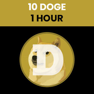 FAST - 10 Doge Coins (DOGE) Crypto Mining Contract - 1 HOUR