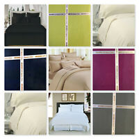 Plain Dyed Polycotton Top Flat Bed Sheets Size Single Double King and Super King