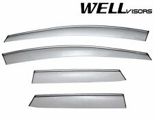 For 07-12 Mazda CX-7 WellVisors Side Window Deflector Visors With Chrome Trim