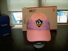 L.A. GALAXY ADIDAS PINK CAP HAT OFFICIAL MLS ADJUSTABLE FIT EMBROIDERED