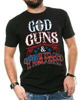 God Guns & Trump Donald Trump President T-shirt 2020 Election 2nd Amendment Tees
