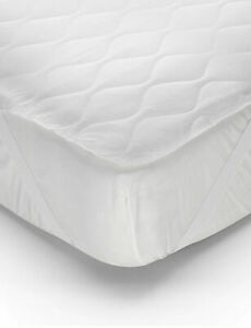 Mattress Protector Thick 5ft Hollow Fibre Filling Anti Allergic Polycotton M&S