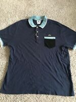 Lacoste Mens Navy Blue Crocodile Logo Short Sleeve Polo Size 6