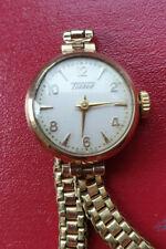 9ct Yellow Gold Tissot Ladies 70 Wristwatch Watch A Superb Worker Timepiece Mint