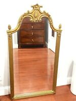 """VINTAGE  GOLD GILT WALL HANGING MIRROR 49"""" X 26 """""""