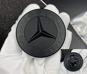 57mm Mercedes Benz Matte Black Front Hood Bonnet Emblem Badge Decal Logo