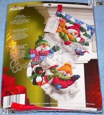 Bucilla SNOW FUN Stocking Felt Applique Christmas Kit - Snowmen, Penguin - 86108