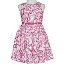 GIRLS size 10 Pink print flower Party DRESS pink belt NEW Formal graduation