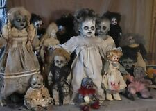 "24"" antique creepy horror Halloween prop baby haunted house un-dead  zombie vtg"