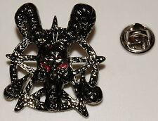 Satan Pentagramm rote Augen Alchemie Skull Gothi l Anstecker  Abzeichen l Pin 68