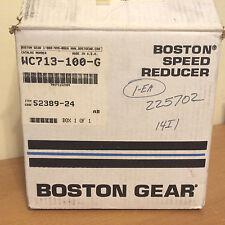 NIB Boston Gear WC713-100-G 100:1 Speed Reducer 52389