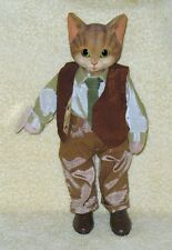 "Cat Doll in Vest and Tie by Heather Hykes 11 ¼"" Tall Cat Nip Collection"