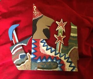 JAMES HAROLD JENNINGS  FOLK ART CUT OUT Outsider   painting