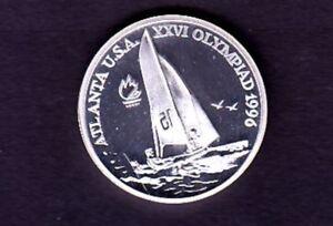 """ROMANIA SILVER COIN 100 LEI , 1996 """"ATLANTA"""""""