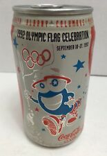 Unopened Coca Cola Can from the 1992 Olympic Flag Celebration Atlanta Georgia VG