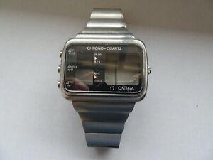 Original Omega Chrono-Quartz used Albatros case with bracelet for parts 196.0052