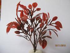 Colore Rosso in miniatura BORDEAUX foglie delle piante Bush Albero Casa Delle Bambole Giardino modello R1